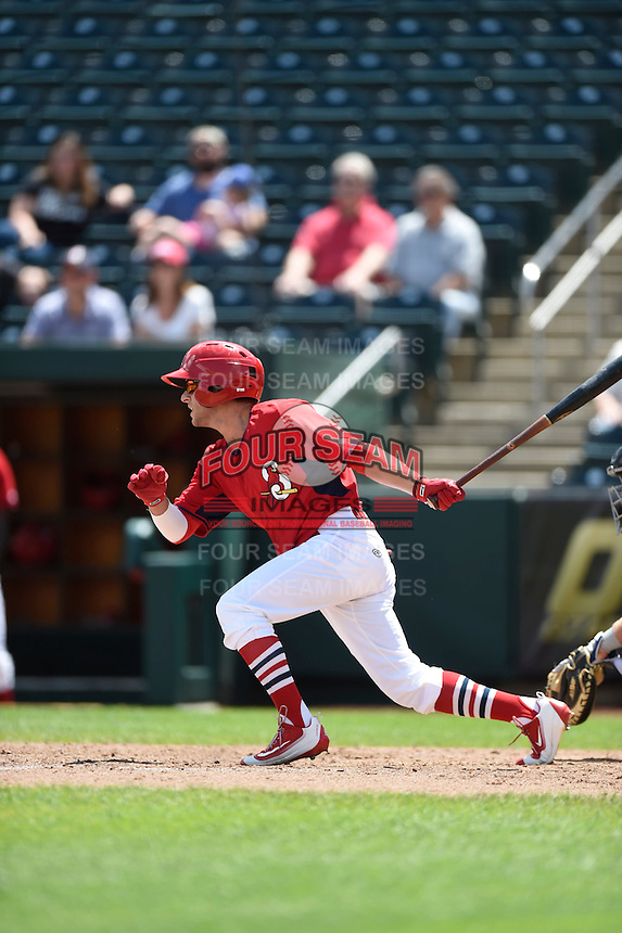 ***Temporary Unedited Reference File***Springfield Cardinals pinch hitter Mikey Reynolds (3) during a game against the Northwest Arkansas Naturals on April 27, 2016 at Hammons Field in Springfield, Missouri.  Springfield defeated Northwest Arkansas 8-1.  (Mike Janes/Four Seam Images)