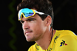 Race leader Yellow Jersey Greg Van Avermaet (BEL) BMC Racing Team at sign on before the start of Stage 10 of the 2018 Tour de France running 158.5km from Annecy to Le Grand-Bornand, France. 17th July 2018. <br /> Picture: ASO/Alex Broadway | Cyclefile<br /> All photos usage must carry mandatory copyright credit (&copy; Cyclefile | ASO/Alex Broadway)