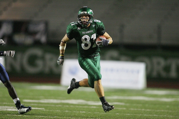 Denton, TX - OCTOBER 7: Johnny Quinn #81 - University of North Texas Mean Green football vs Florida International University Panthers at Fouts Field in Denton on October 7, 2006 in Denton, Texas. NT wins 25-22. Photo by Rick Yeatts