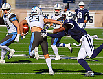 November 2nd, 2019:  A great defensive day for Yale [blue] as the Bulldogs up their record to 6-1 defeating the Columbia Lions 45-10 in Ivy League football.  The game was held at the Yale Bowl in New Haven, Connecticut. Heary/Eclipse Sportswire/CSM