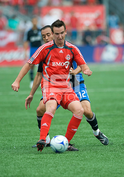 Tyler Rosenlund (15) in action at BMO Field on July 19, 2008. Final score was 0-0.