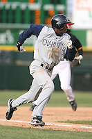April 15th, 2007:  Kenny Kelly of the Charlotte Knights, Class-AAA affiliate of the Chicago White Sox, during a game at Frontier Field in Rochester, NY.  Photo by:  Mike Janes/Four Seam Images
