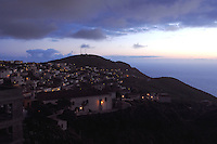 The capital of El Hierro, Valverde early morning.