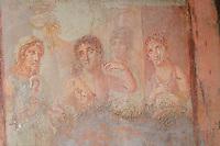 Completato il restauro dell'affresco dell' Adone Ferito, finanziato con il contributo delle vendite del Libro di Alberto Angela i tre giorni di Pompei<br /> nella foto  l'Affresco dell'Ermafrodito