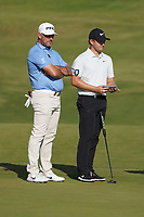 Lee Westwood (ENG) and Tom Lewis (ENG) on the 11th, round 2 of the Portugal Masters, Dom Pedro Victoria Golf Course, Vilamoura, Vilamoura, Portugal. 25/10/2019<br /> Picture Andy Crook / Golffile.ie<br /> <br /> All photo usage must carry mandatory copyright credit (© Golffile | Andy Crook)