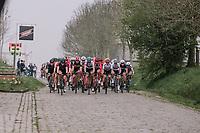 The Peloton coming through the Haaghoek during the 16th Ronde Van Vlaanderen<br /> <br /> Elite Womans Race (1.WWT)<br /> <br /> One day race from Oudenaarde to Oudenaarde<br /> ©Jojo Harper for Kramon