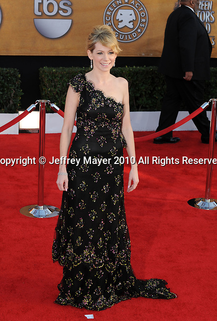 LOS ANGELES, CA. - January 23: Carrie Preston arrives at the 16th Annual Screen Actors Guild Awards held at The Shrine Auditorium on January 23, 2010 in Los Angeles, California.