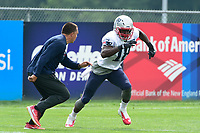 August 2, 2017: New England Patriots wide receiver Matthew Slater (18) works out at the New England Patriots training camp held at Gillette Stadium, in Foxborough, Massachusetts. Eric Canha/CSM