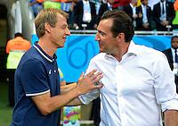 Marc Wilmots (R), headcoach of Belgium and Head coach Jurgen Klinsmann of USA   <br /> Salvador (Brasile) 01-07-2014 Arena Fonte Nova. Round of 16 - Ottavi di finale Belgium - USA / Belgio - Stati Uniti . Football 2014 Fifa World Cup Brazil - Campionato del Mondo di Calcio  Brasile 2014 <br /> Foto Insidefoto