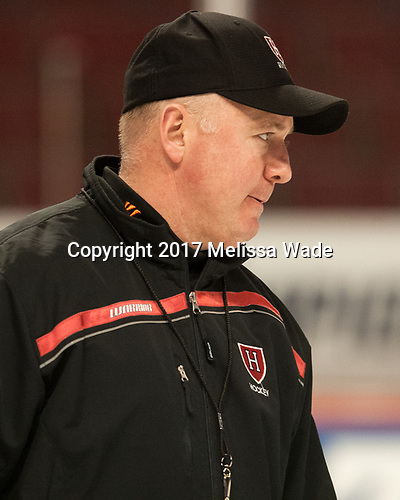 Ted Donato (Harvard - Head Coach) - The Harvard University Crimson practiced at the United Center on Wednesday, April 5, 2017, in Chicago, Illinois.