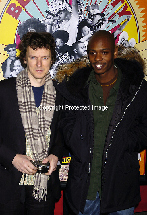 "Director Michael Gondry and Dave Chappelle ..at The Premiere of ""Dave Chappelle's Block Party"" ..on February 28, 2006 at the Loews 34th Street Theatre in New York City . ..Photo by Robin Platzer, Twin Images"