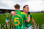 Declan O'Sullivan  South Kerry team celebrate winning the County Senior Football Semi Final over Kenmare at Fitzgerald Stadium Killarney on Sunday.
