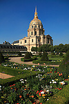 The dome church of Hotel les Invalides. Paris. city of Paris. France