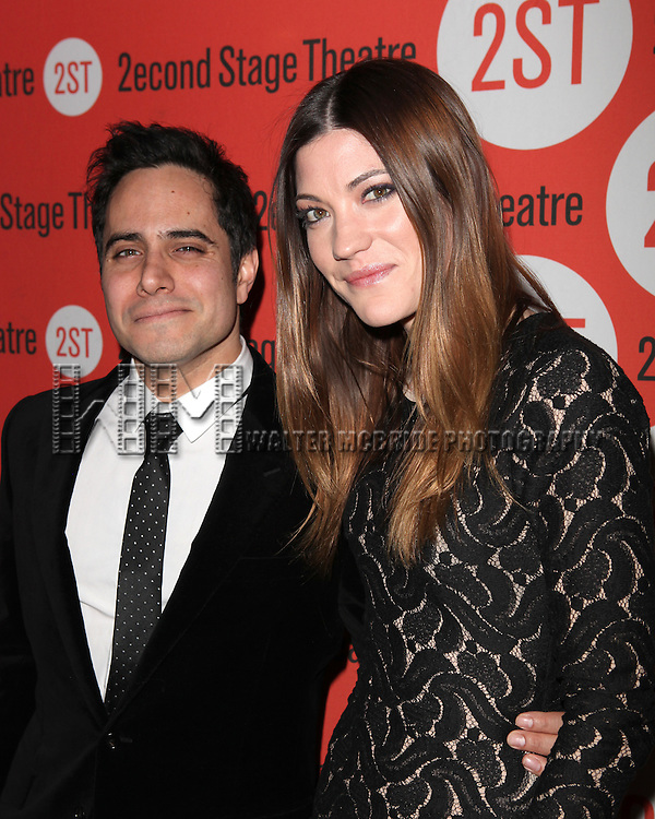 """Rajiv Joseph & Jennifer Carpenter.attending the  """"Gruesome Playground Injuries"""" Second Stage Theatre Off-Broadway Opening Night - After Party in New York City.."""
