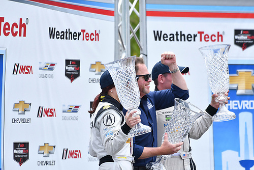 IMSA WeatherTech SportsCar Championship<br /> Chevrolet Sports Car Classic<br /> Detroit Belle Isle Grand Prix, Detroit, MI USA<br /> Saturday 3 June 2017<br /> 93, Acura, Acura NSX, GTD, Andy Lally, Katherine Legge, Michael Shank<br /> World Copyright: Richard Dole<br /> LAT Images<br /> ref: Digital Image RD_DTW_17_0399