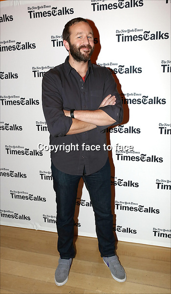 Chris O'Dowd backstage at TimesTalks Presents 'An Evening With James Franco And Chris O'Dowd' at the Times Center on March 7, 2014 in New York City.<br />