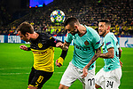 05.11.2019, Signal Iduna Park, Dortmund , GER, Champions League, Gruppenphase, Borussia Dortmund vs Inter Mailand, UEFA REGULATIONS PROHIBIT ANY USE OF PHOTOGRAPHS AS IMAGE SEQUENCES AND/OR QUASI-VIDEO<br /> <br /> im Bild | picture shows:<br /> Marcelo Brozovic (Inter #77) klaert vor Mario Goetze (Borussia Dortmund #10),<br /> <br /> Foto © nordphoto / Rauch