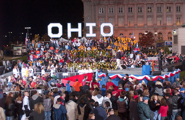 CROWD.During an election eve rally held by John Kerry near Cleveland City Hall, Cleveland, Ohio, USA, 1st November 2004..**UK SALES ONLY**.Ref: ADM.www.capitalpictures.com.sales@capitalpictures.com.©Capital Pictures.