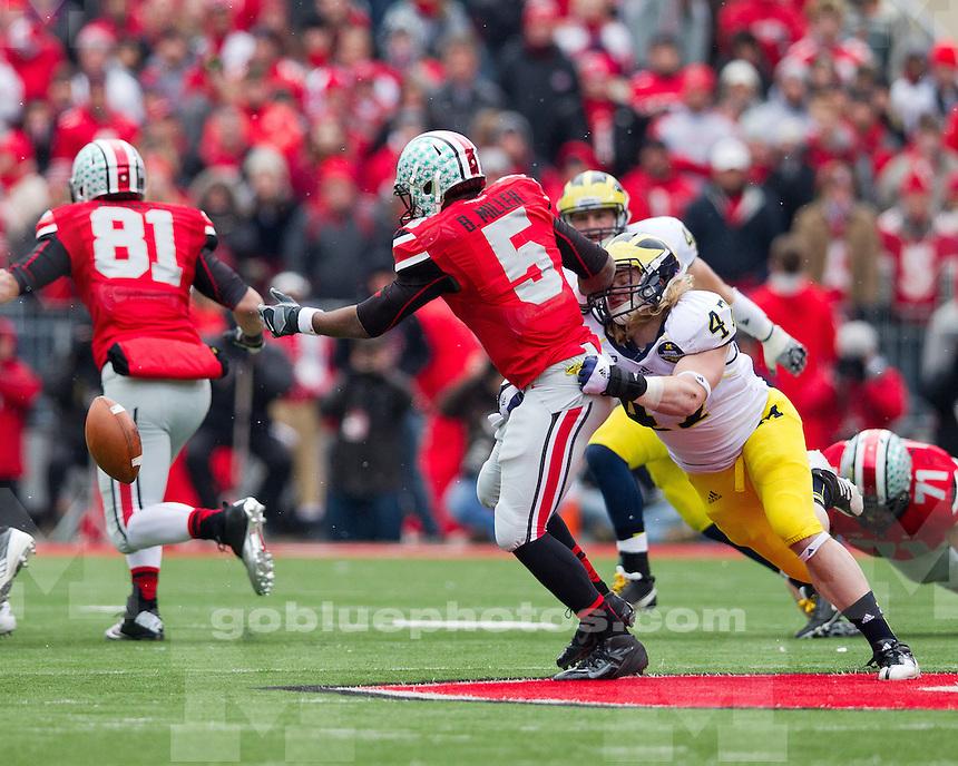 The University of Michigan football team lost to Ohio State, 26-21, at Ohio Stadium in Columbus, Ohio on November 24, 2012.