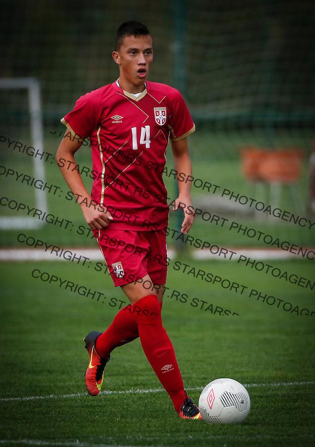 Fudbal Soccer<br /> International Friendly-Prijateljski mec<br /> Srbija U17 v Belorusiaj U17<br /> Andrija Radovanovic<br /> Stara Pazova, 20.09.2016<br /> foto: Srdjan Stevanovic/Starsportphoto &copy;