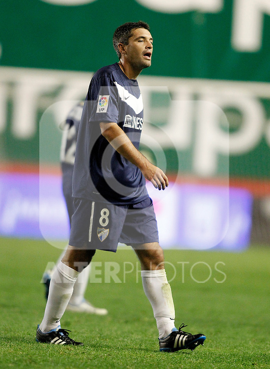 Malaga's Jeremy Toulalan during La Liga Match. October 26, 2011. (ALTERPHOTOS/Alvaro Hernandez)
