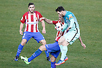Atletico de Madrid's Koke Resurrecccion and Diego Godin (c) and FC Barcelona's Leo Messi during Spanish Kings Cup semifinal 1st leg match. February 01,2017. (ALTERPHOTOS/Acero)