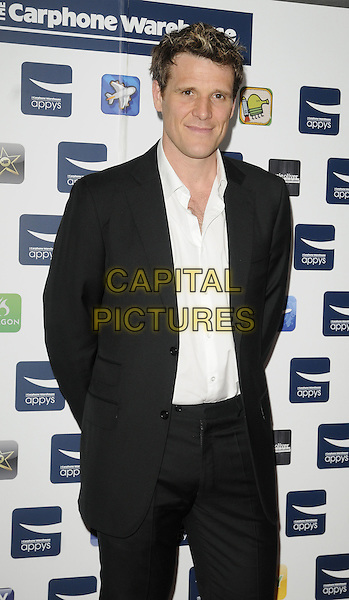 JAMES CRACKNELL .At the Carphone Warehouse Appys Awards, Vinopolis, Stoney Street, London, England, UK, April 11th 2011..half length black suit white shirt .CAP/CAN.©Can Nguyen/Capital Pictures.