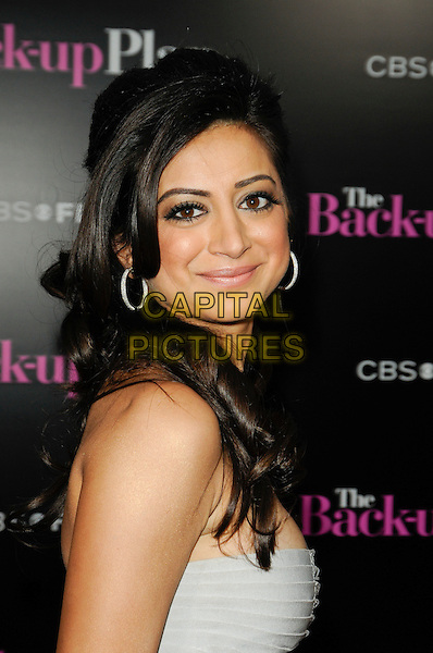 "NOUREEN DEWULF .arriving at the premiere of CBS Films' ""The Back-up Plan"" at the Regency Village Theatre in Westwood, California, USA, April 21st 2010..arrivals portrait headshot strapless white side hoop earrings .CAP/ROT.©Lee Roth/Capital Pictures"