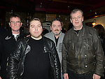 Roundabout, Stoney Burke, Ritchie Stevens, Gerry Burke and Gary Murphy who played at the Bagfull of Songs Thin Lizzy tribute night in Sarsfield's. Photo:Colin Bell/pressphotos.ie