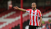 Bryan Mbeumo of Brentford during Brentford vs Swansea City, Sky Bet EFL Championship Play-Off Semi-Final 2nd Leg Football at Griffin Park on 29th July 2020