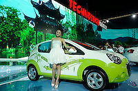 Geely's electronic-energy car, GLEAGLE EX-2, at Beijing Auto Show 2010. The car show has attracted all the world's major auto markers. China's vehicle sales have breached the 10-million barrier for the first time ever, with 10.9 million automobiles sold last year. .24 Apr 2010