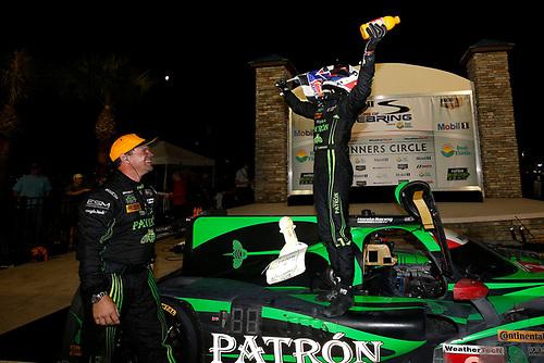 16-19 March, 2016, Sebring, Florida, USA<br /> , 2, Honda HPD, Ligier JS P2, P, Scott Sharp, Ed Brown, Joannes van Overbeek, Luis Felipe Derani, podium, priority<br /> ©2016, Michael L. Levitt<br /> LAT Photo USA