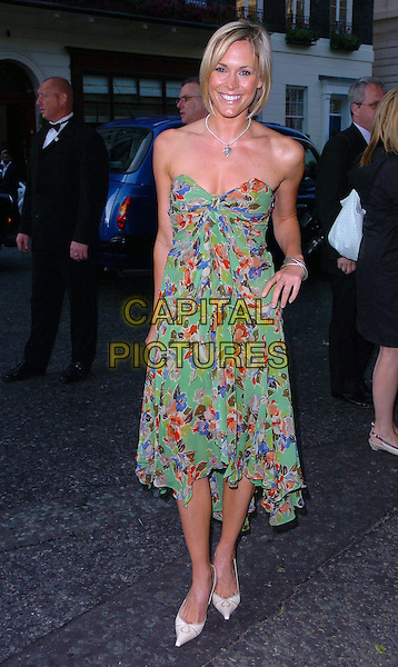 JENNI FALCONER.Arrivals - The Glamour Magazine 3rd Annual Women Of The Year Awards, Berkeley Square, London, England, .June 6th 2006..full length jenny strapless green patterned printed dress floral.Ref: CAN.www.capitalpictures.com.sales@capitalpictures.com.©Can Nguyen/Capital Pictures