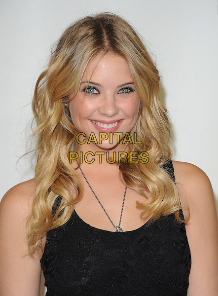 Ashley Benson.iHeartRadio Music Festival day 2 at the Grand Garden Arena inside the MGM Grand Hotel and Casino, Las Vegas, Nevada USA..24th September 2011.headshot portrait black.CAP/RKE/DVS.©DVS/RockinExposures/Capital Pictures.