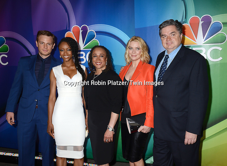 Chicago Med cast, Nick Gehlfuss, YaYa DaCosta,S Epatha Merkerson, Laurie Holden and Oliver Platt, attends the NBC Upfront 2015-2016 Presentation on May 11, 2015 at Radio City Music Hall in New York, New York, USA.<br /> <br /> photo by Robin Platzer/Twin Images<br />  <br /> phone number 212-935-0770