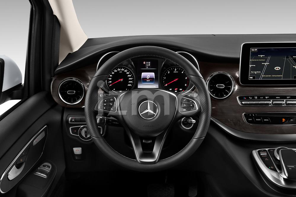 Car pictures of steering wheel view of a 2020 Mercedes Benz V-class Avantgarde 5 Door Mini Van