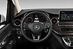 Car pictures of steering wheel view of a 2020 Mercedes Benz V-class Avantgarde 5 Door Mini Van