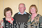 IN GOOD FORM: Kathleen OShea, Killarney, Tony Kilmurry and Joan Kilmurry, Ballyhar, enjoying the Brendan Cronin Social in the Dromhall Hotel, Killarney, last Saturday night..