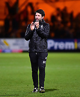Lincoln City manager Danny Cowley applauds the fans at the final whistle<br /> <br /> Photographer Andrew Vaughan/CameraSport<br /> <br /> The EFL Sky Bet League Two - Cambridge United v Lincoln City - Saturday 29th December 2018  - Abbey Stadium - Cambridge<br /> <br /> World Copyright © 2018 CameraSport. All rights reserved. 43 Linden Ave. Countesthorpe. Leicester. England. LE8 5PG - Tel: +44 (0) 116 277 4147 - admin@camerasport.com - www.camerasport.com