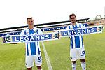 CD Leganes' new players Dani Ojeda (r) and Rodrigo Tarin during their official presentation.  July 11, 2018. (ALTERPHOTOS/Acero)