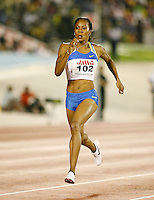 Sanya Richards winning the 400m with a time of 50.60sec. at the Jamaica International Invitational Meet on Saturday, May 3rd. 2008 Photo by Errol Anderson, The Sporting Image.