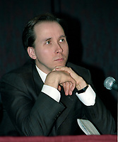 FILE - Pierre Belanger, Ministre de la securite publique durant La crise du verglas en janvier 1998<br /> <br /> PHOTO  :  Agence Quebec Presse