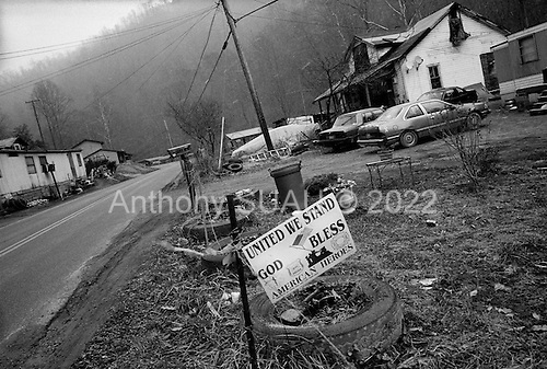 Wharncliffe, West Virginia.USA.January 16, 2005..In a small village on the border to Kentucky and Virginia separated only by the infamous Tug River