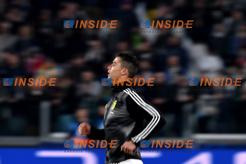 Cristiano Ronaldo of Juventus warms up before the Uefa Champions League 2018/2019 round of 16 second leg football match between Juventus and Atletico Madrid at Juventus stadium, Turin, March, 12, 2019 <br />  Foto Andrea Staccioli / Insidefoto
