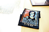 Merced, CA - May 16, 2009 -- T-shirt worn by students as first lady Michelle Obama at the University of California at Merced as she spoke at commencement on Thursday, May 16, 2009..Credit: Samantha Appleton - White House via CNP