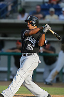 August 9 2009: Thomas Neal of the San Jose Giants during game against the Rancho Cucamonga Quakes at The Epicenter in Rancho Cucamonga,CA.  Photo by Larry Goren/Four Seam Images