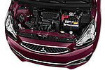 Car Stock 2017 Mitsubishi Space-Star Instyle 5 Door Hatchback Engine  high angle detail view