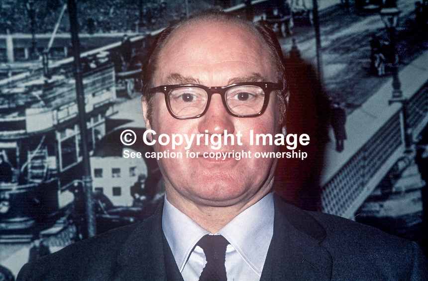 James T O&rsquo;Brien, Livestock Marketing Commission, N Ireland, January, 1973, 197301010004JTO<br />