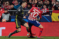 Atletico de Madrid's Juanfran Torres and Juventus' Cristiano Ronaldo during UEFA Champions League match, Round of 16, 1st leg between Atletico de Madrid and Juventus at Wanda Metropolitano Stadium in Madrid, Spain. February 20, 2019. (Insidefoto/ALTERPHOTOS/A. Perez Meca)<br /> ITALY ONLY