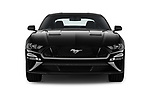 Car photography straight front view of a 2018 Ford Mustang GT 2 Door Coupe